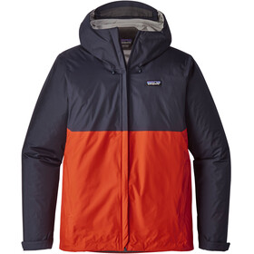Patagonia Torrentshell Jacket Men Navy Blue W/Paintbrush Red